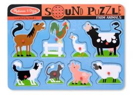 Melissa & Doug Farm Animal Sound Puzzle