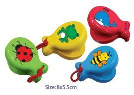 Wooden Castanets Round Set of 4