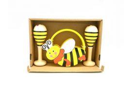 Bee Maracas and Tambourine Set
