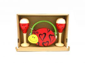 Ladybird Maracas and Tambourine Set